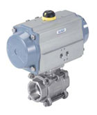 2/2 and 3/2 way Ball Valve with Pneumatic Rotary Actuator